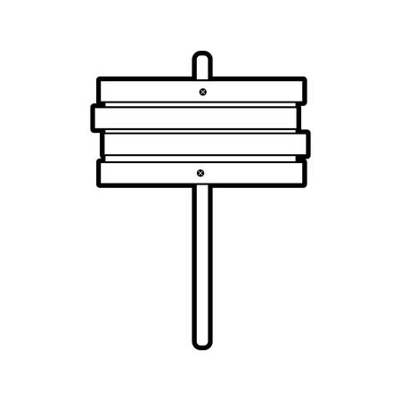 wooden sign post blank symbol vector illustration 向量圖像