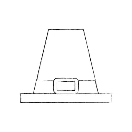 pilgrim hat classic accessory thanksgiving symbol vector illustration Illustration