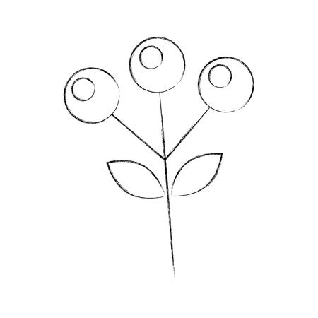 支店秋果実植物自然葉ベクトル図