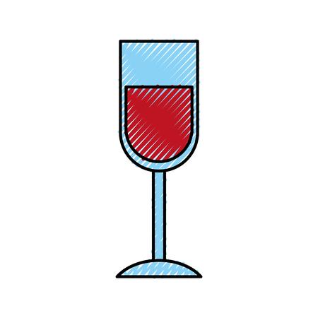 wine glass drink thanksgiving party celebration vector illustration 向量圖像