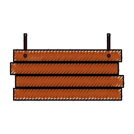 wooden board rustic autumn decoration hanging vector illustration