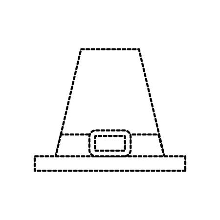 巡礼者の帽子古典的なアクセサリー感謝祭シンボル ベクトル図  イラスト・ベクター素材