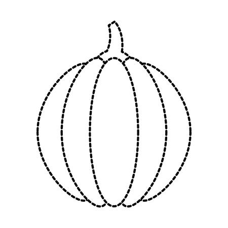 カボチャの感謝祭のディナーの装飾お祝いベクトル イラスト  イラスト・ベクター素材