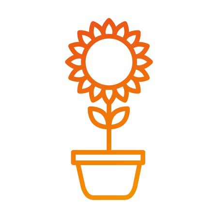 ingemaakte zonnebloem natuurlijke plant bloemblad decoratie vectorillustratie