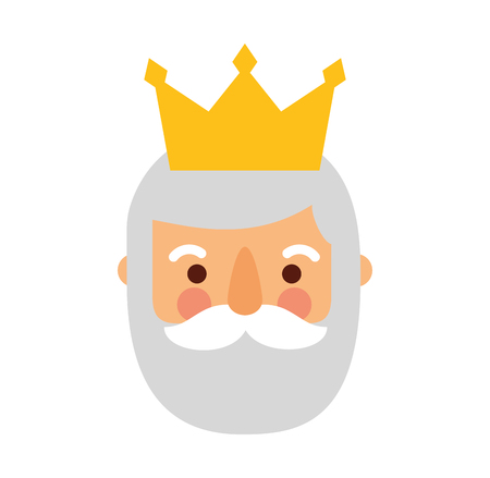 the wise king of orient epiphany cartoon vector illustration