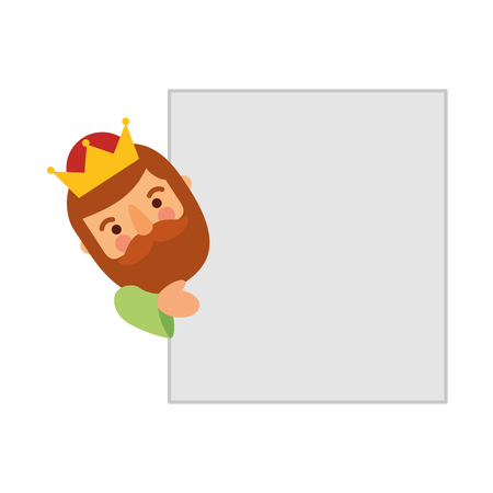 epiphany king of orient card blank space vector illustration