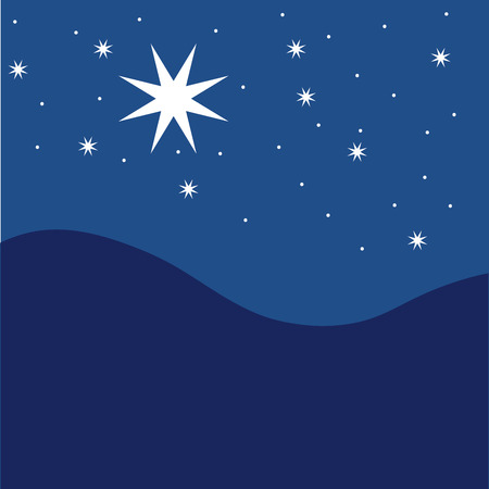 Stars on blue striped background. Festive pattern great for winter or christmas themes. vector file included