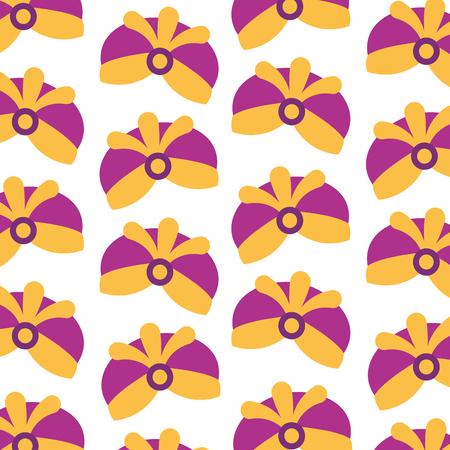 보석 현명한 왕 원활한 패턴 이미지 벡터 일러스트와 모자
