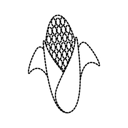 sweet corn cartoon thanksgiving day symbol vector illustration Иллюстрация