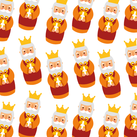 Krippe kluge König Weihnachten nahtlose Muster Bild Vektor-Illustration Standard-Bild - 88456523