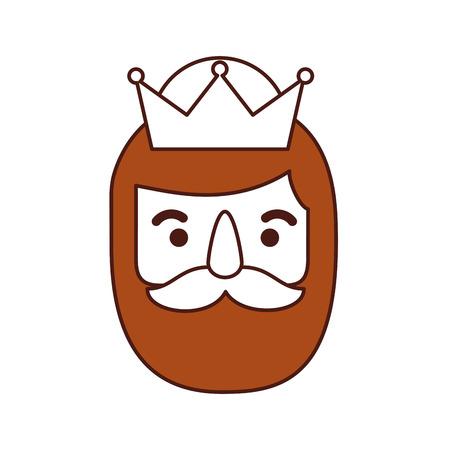 Le sage roi d'orient épiphanie dessin animé vector illustration Banque d'images - 88456531