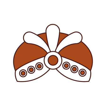 Cartoon hoed met juwelen koning pictogram vector illustratie