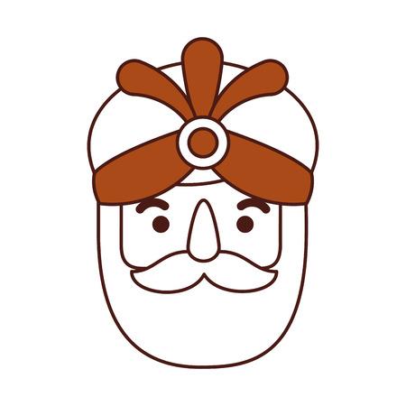 de wijze koning van orient epiphany cartoon vectorillustratie