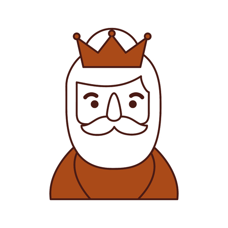 wise king portrait christmas celebration vector illustration
