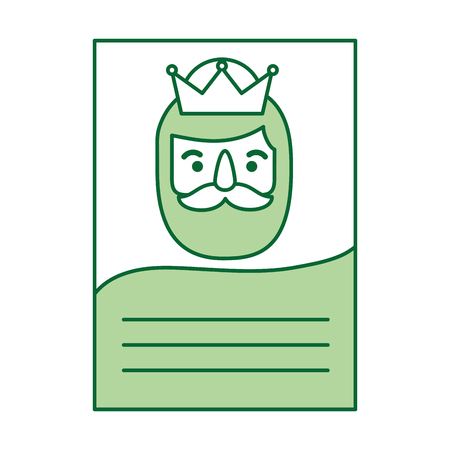 letter to the three kings of orient celebration festivity vector illustration