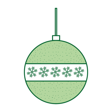装飾的なクリスマスボールの飾りお祝いベクトルイラスト