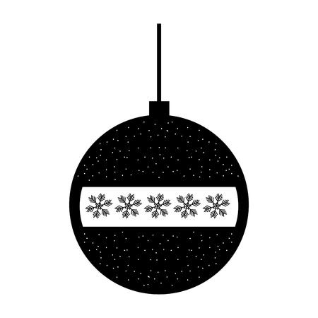 装飾的なクリスマス ボール飾りお祝いベクトル イラスト