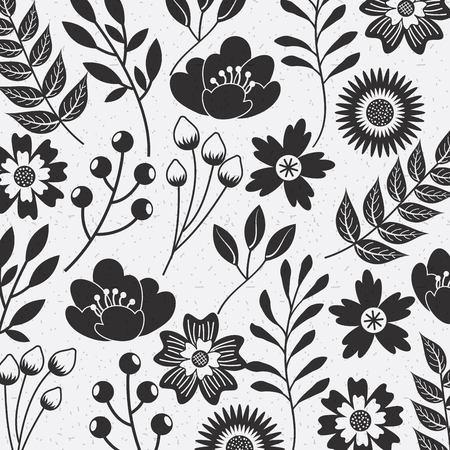 繁栄の装飾ベクトル イラスト花のシームレスなパターン自然観賞用テクスチャ
