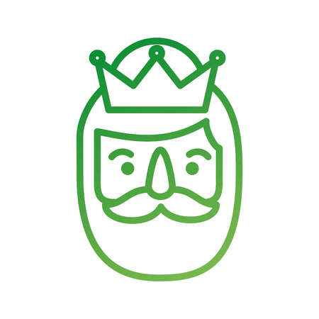 wise king face christmas celebration vector illustration