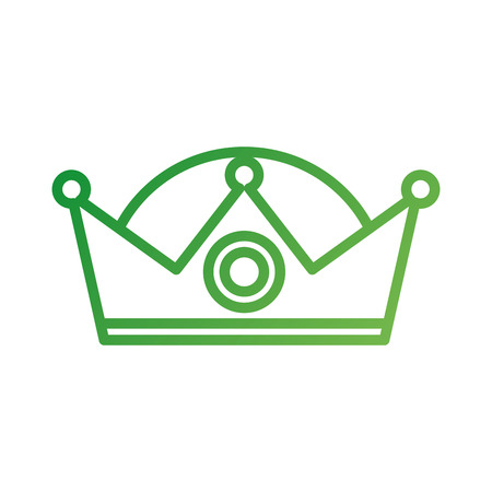 crown wise king ornate jewelry image vector illustration Ilustração