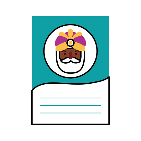 brief aan de drie koningen van orient feest festiviteit vectorillustratie