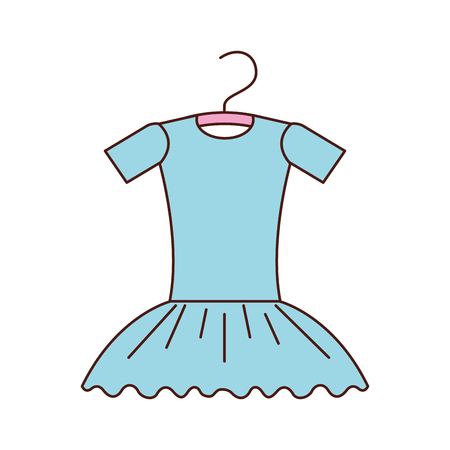 blue tutu ballet on the hanger costume vector illustration