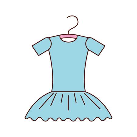 blue tutu ballet on the hanger costume vector illustration