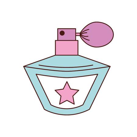 prinses parfum accessoire fles schoonheid vector illustratie
