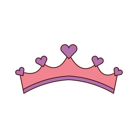 Princesse girly rose princesse avec des bijoux de coeur vecteur illustration Banque d'images - 88525112