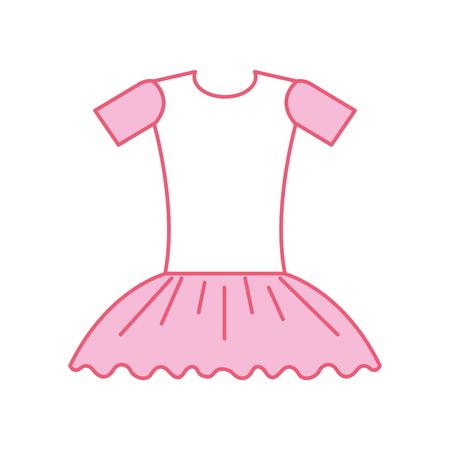 pink ballet dress ballet dress elegant costume vector illustration Иллюстрация