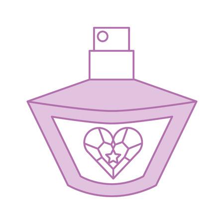 Princesa perfume accesorio botella belleza vector illustration Foto de archivo - 88525242