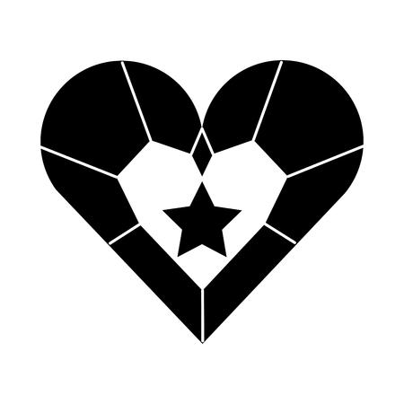 Jóia coração estrela pingente luxo fantasia ilustração vetorial Foto de archivo - 88525228
