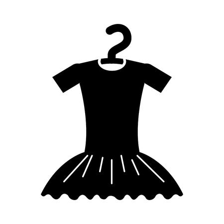 ハンガーの衣装のベクトル図にチュチュ バレエ