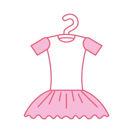 pink tutu ballet on the hanger costume vector illustration