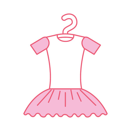 pink tutu ballet on the hanger costume vector illustration