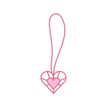 Joyería linda del corazón del collar para la ilustración del vector de la princesa Foto de archivo - 88525275