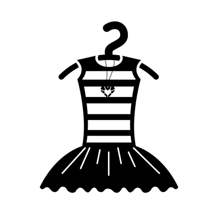 tutu ballet and necklace on the hanger costume vector illustration 向量圖像