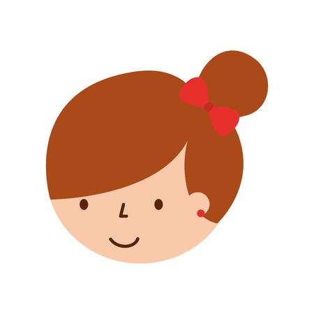 Illustrazione vettoriale del personaggio dei cartoni animati della ballerina della bambina della faccia sveglia Archivio Fotografico - 88525296