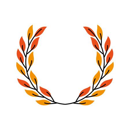 laurel decoration branch ornament image vector illustration