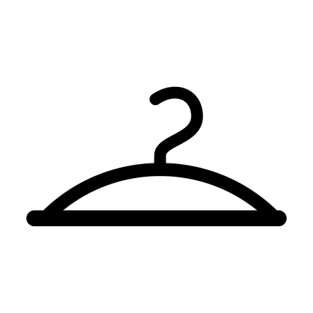 Clothes hanger hook fashion empty icon vector illustration.