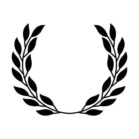 ローレル装飾枝飾りイメージ ベクトル イラスト