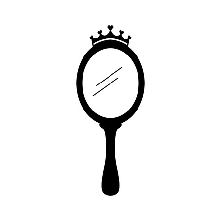 crown princess magical mirror with hearts vector illustration Banco de Imagens - 88525473