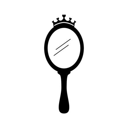 Magischer Spiegel der Kronprinzessin mit Herzvektorillustration Standard-Bild - 88525473
