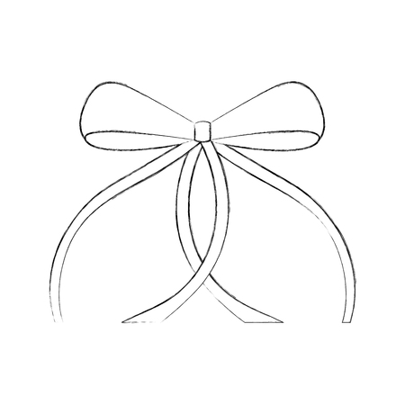 ribbon bow ballet decoration ornament vector illustration Ilustrace