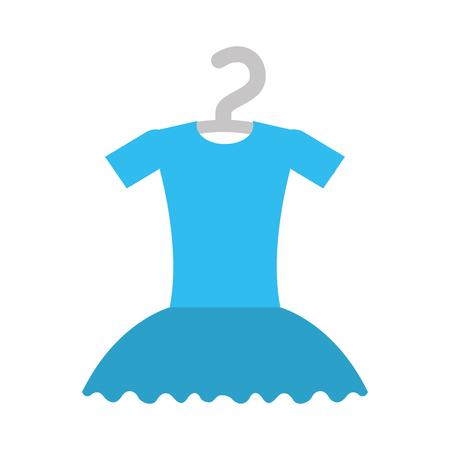 tutu ballet on the hanger costume vector illustration