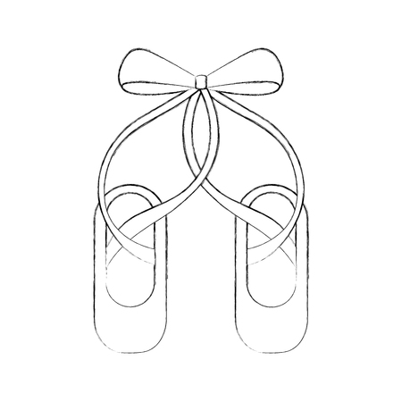 Zapatillas de ballet de pointe ilustración de vector de icono de zapatillas de zapatillas Foto de archivo - 88525352