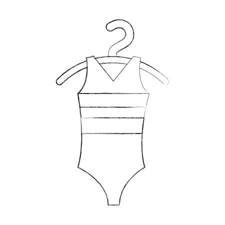 ballet leotard for ballet class icon in cartoon style vector illustration