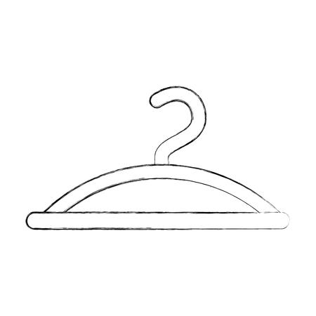 kleding hanger haak mode leeg pictogram vectorillustratie Stock Illustratie