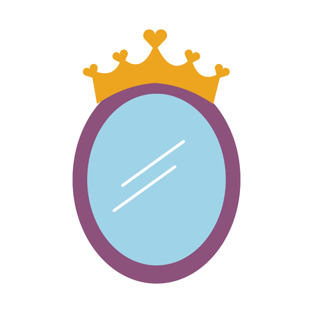 Ilustración de vector de accesorios de decoración de princesa de espejo de corona Foto de archivo - 88525479