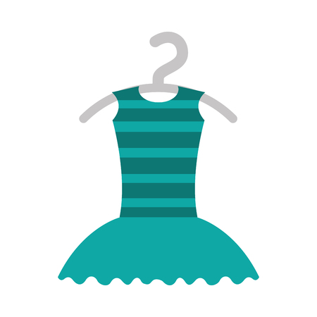 tutu ballet on the hanger costume vector illustration